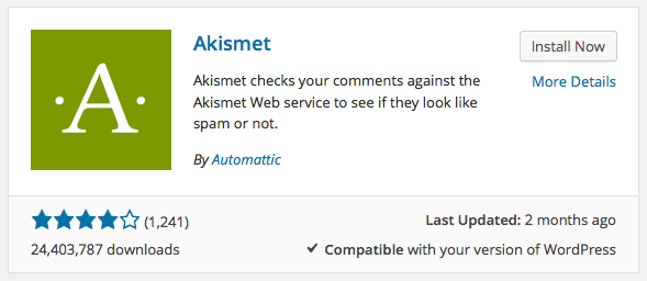 How do I activate the Akismet plugin? | Akismet Documentation